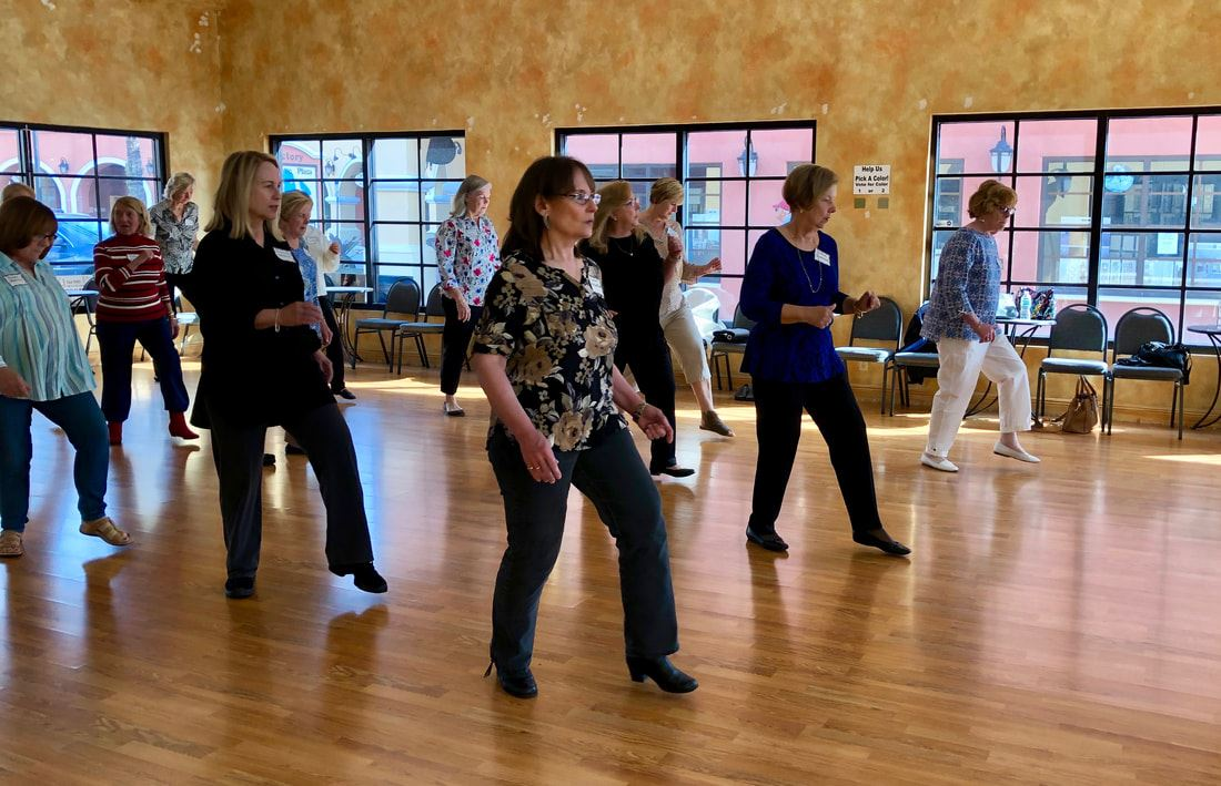 Gadabouts enjoy Line Dancing in Lakewood Ranch
